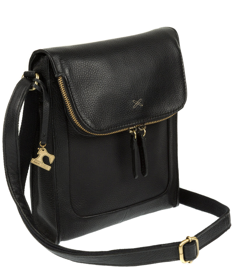 'Sophia' Black Leather Cross Body Bag image 3
