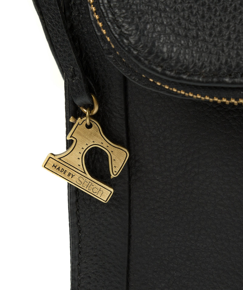 'Sophia' Black Leather Cross Body Bag image 6