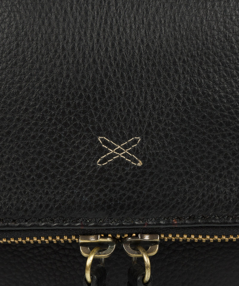 'Sophia' Black Leather Cross Body Bag image 7