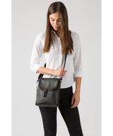'Sophia' Black Leather Cross Body Bag image 2
