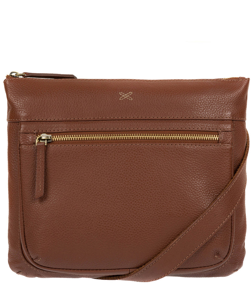 'Victoria' Cognac Cross Body Bag image 1