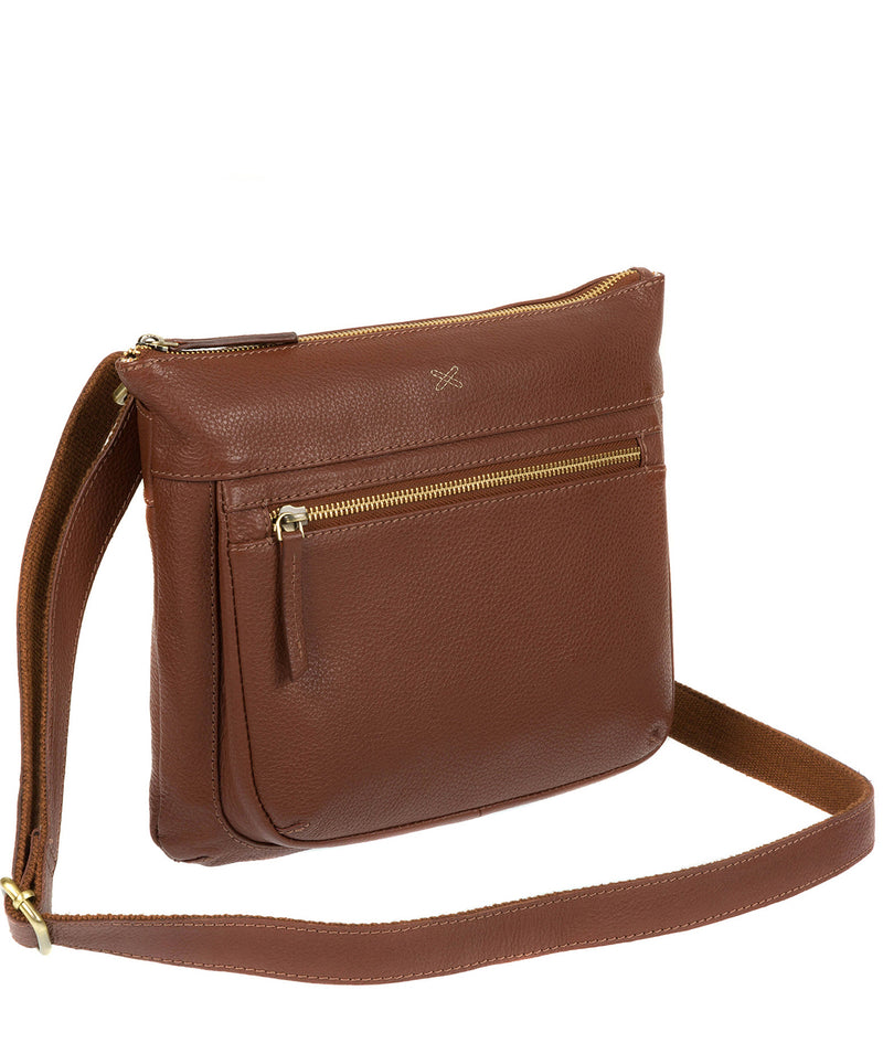 'Victoria' Cognac Cross Body Bag image 3