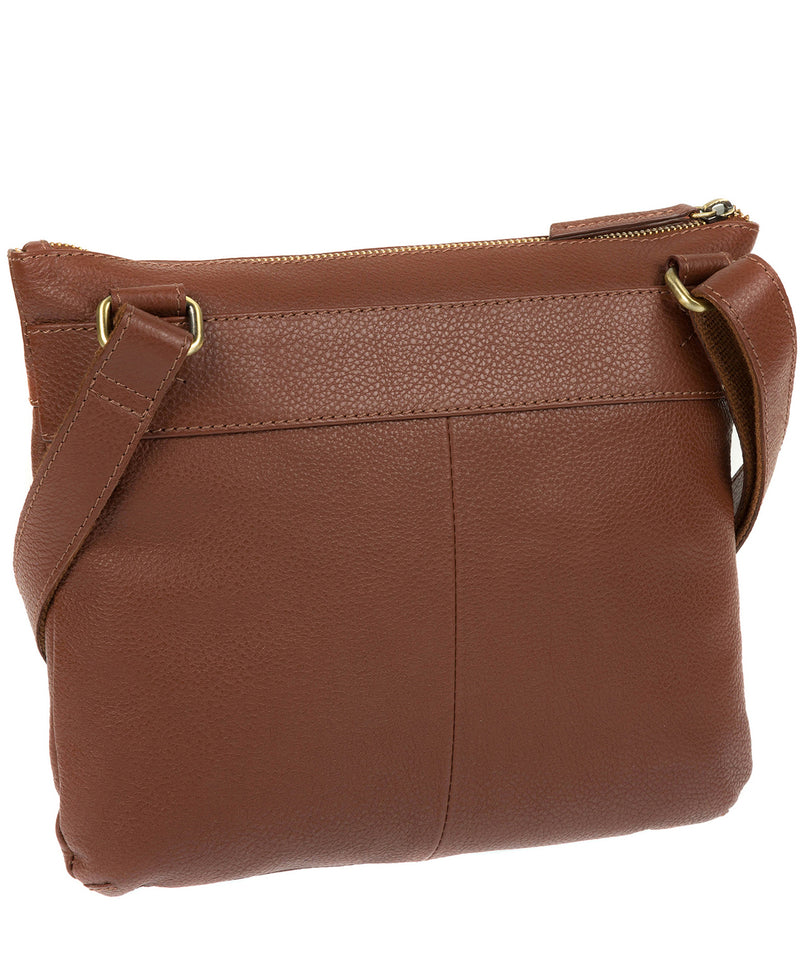 'Victoria' Cognac Cross Body Bag image 5