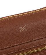 'Victoria' Cognac Cross Body Bag image 6