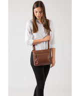'Victoria' Cognac Cross Body Bag image 2