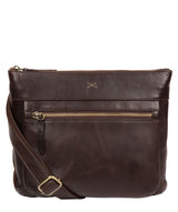 'Victoria' Dark Chocolate Leather Cross Body Bag image 1