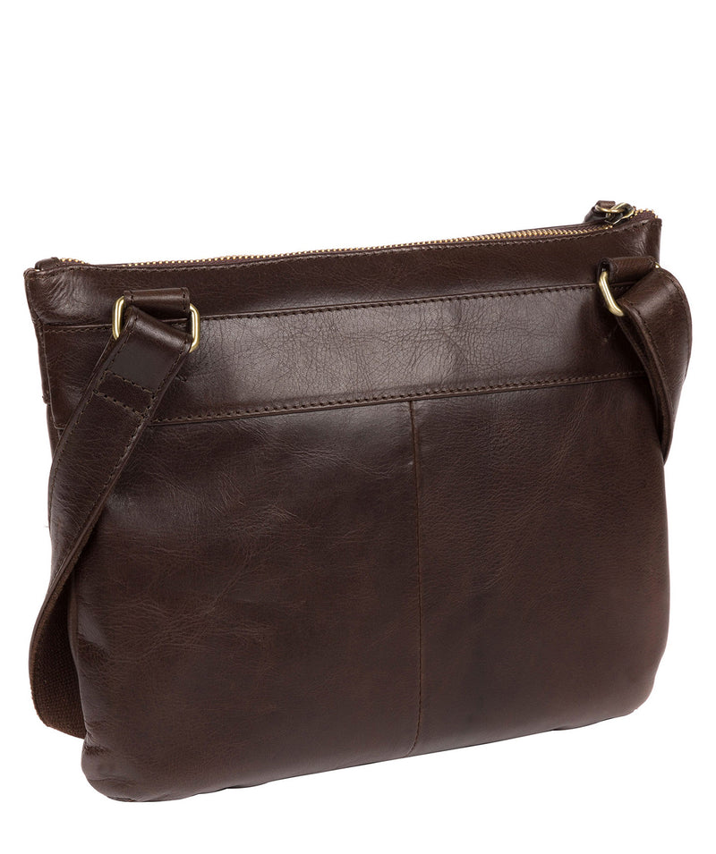 'Victoria' Dark Chocolate Leather Cross Body Bag image 3