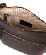 'Victoria' Dark Chocolate Leather Cross Body Bag image 4