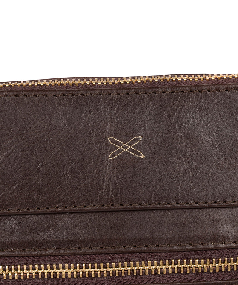 'Victoria' Dark Chocolate Leather Cross Body Bag image 5