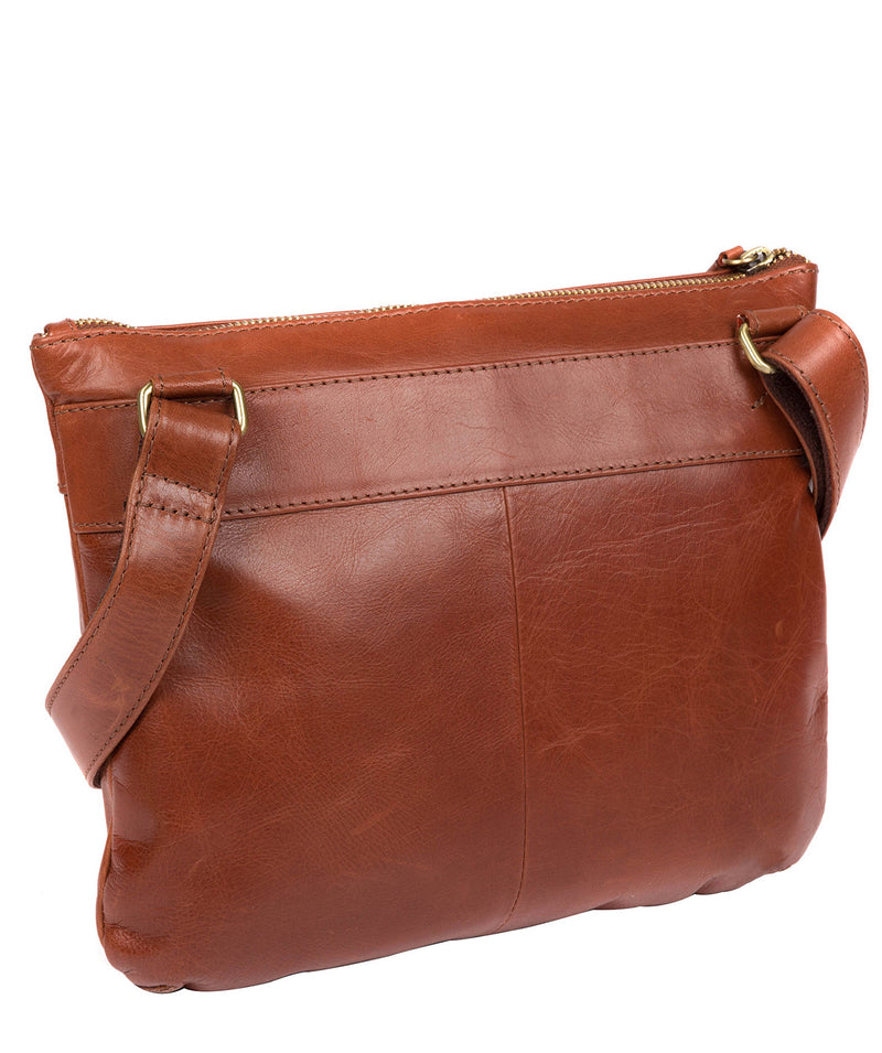 'Victoria' Whiskey Leather Cross Body Bag image 3