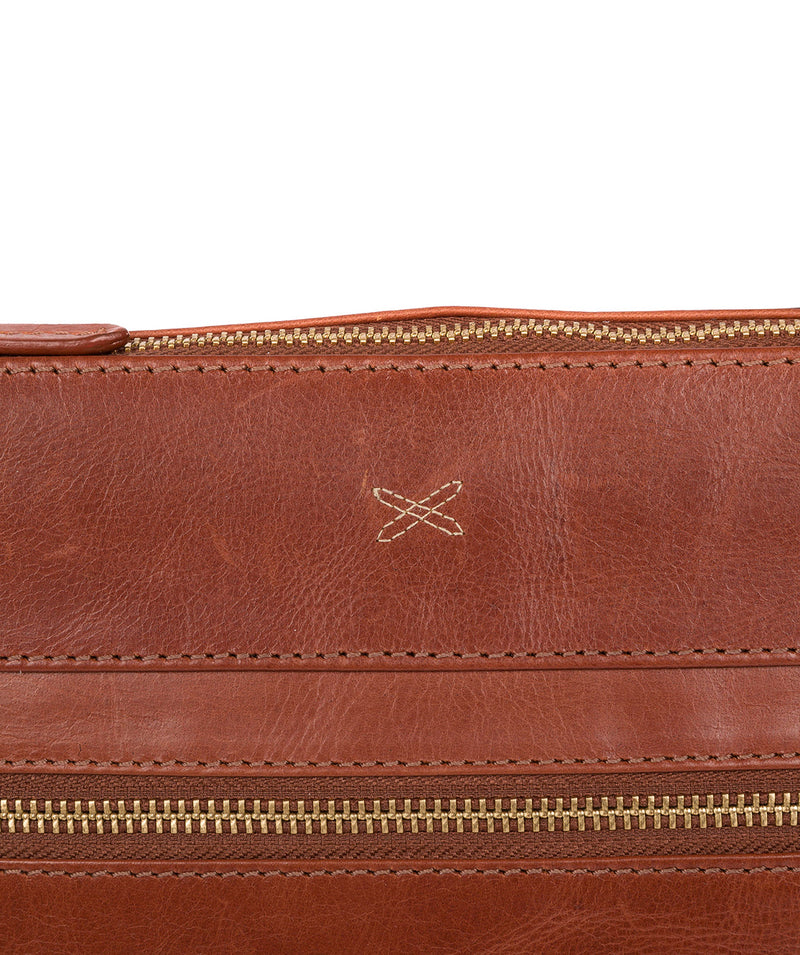 'Victoria' Whiskey Leather Cross Body Bag image 5