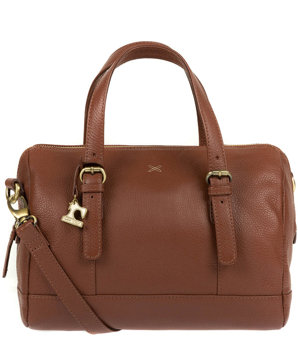 'Hayley' Cognac Leather Handbag image 1