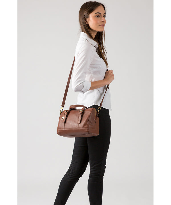 'Hayley' Cognac Leather Handbag image 2