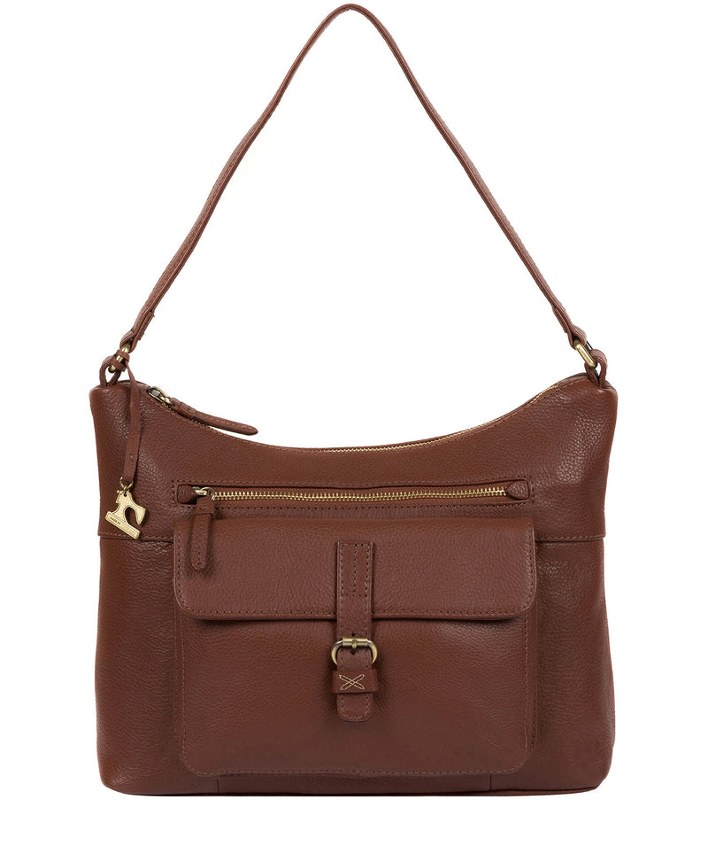 'Laura' Cognac Leather Shoulder Bag image 1