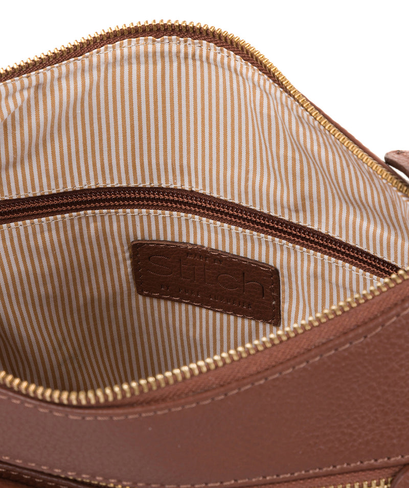 'Laura' Cognac Leather Shoulder Bag image 4