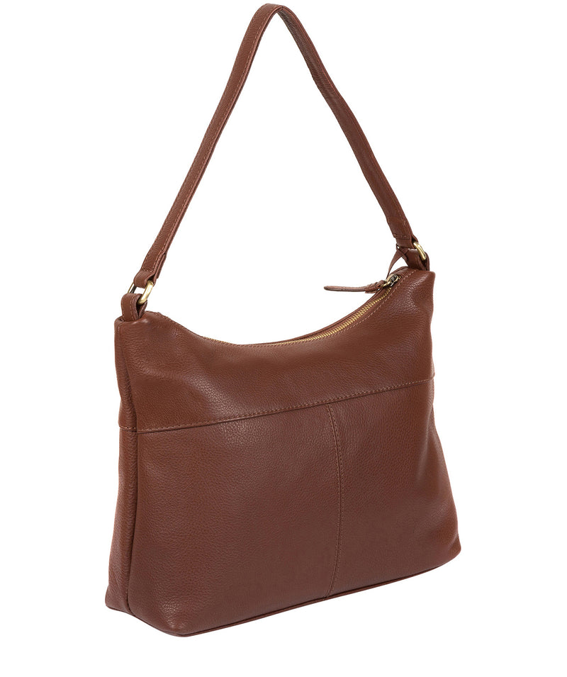 'Laura' Cognac Leather Shoulder Bag image 5