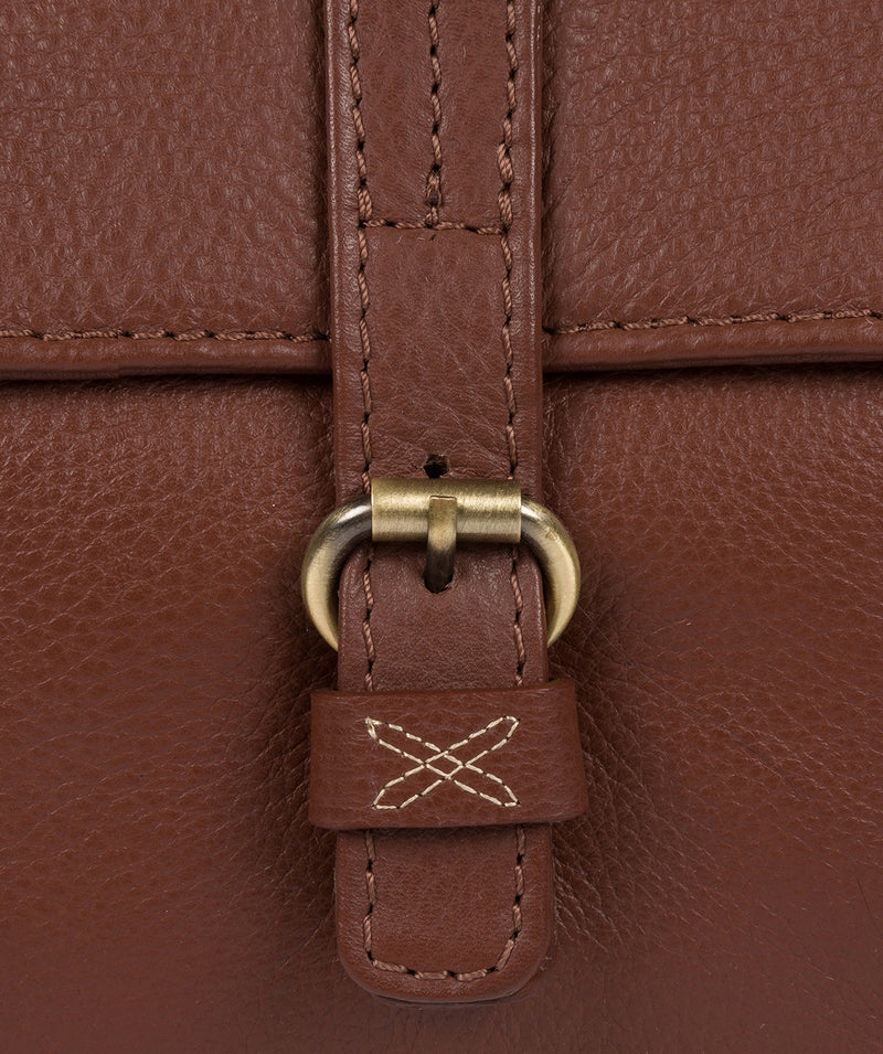 'Laura' Cognac Leather Shoulder Bag image 6