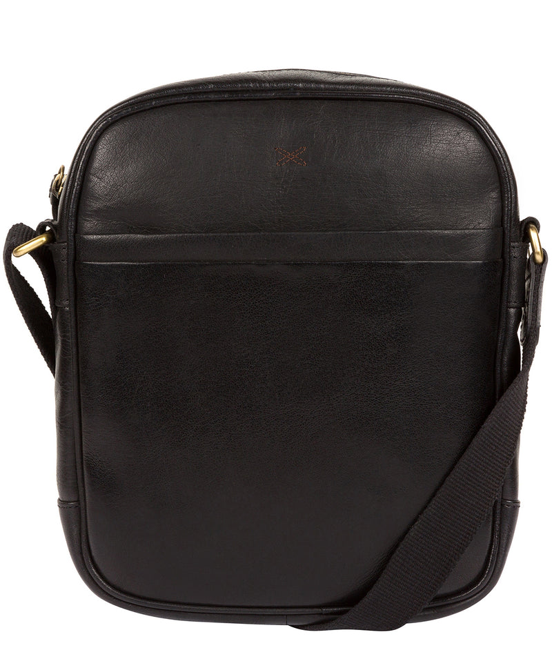 'Cartmel' Black Leather Cross Body Bag image 1