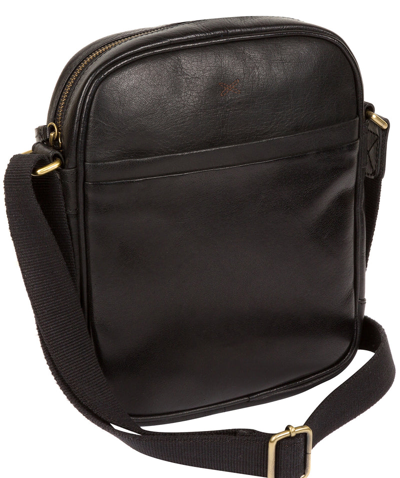 'Cartmel' Black Leather Cross Body Bag image 3