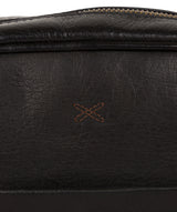 'Cartmel' Black Leather Cross Body Bag image 6