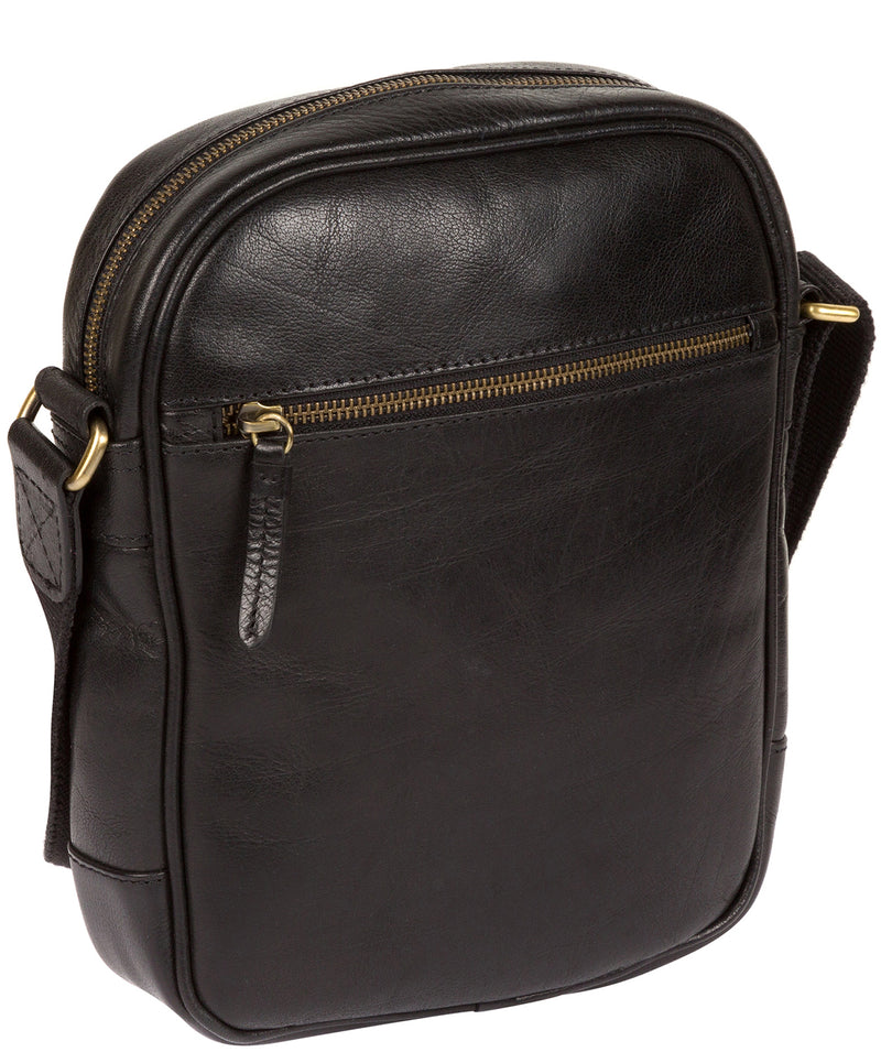 'Cartmel' Black Leather Cross Body Bag Pure Luxuries London
