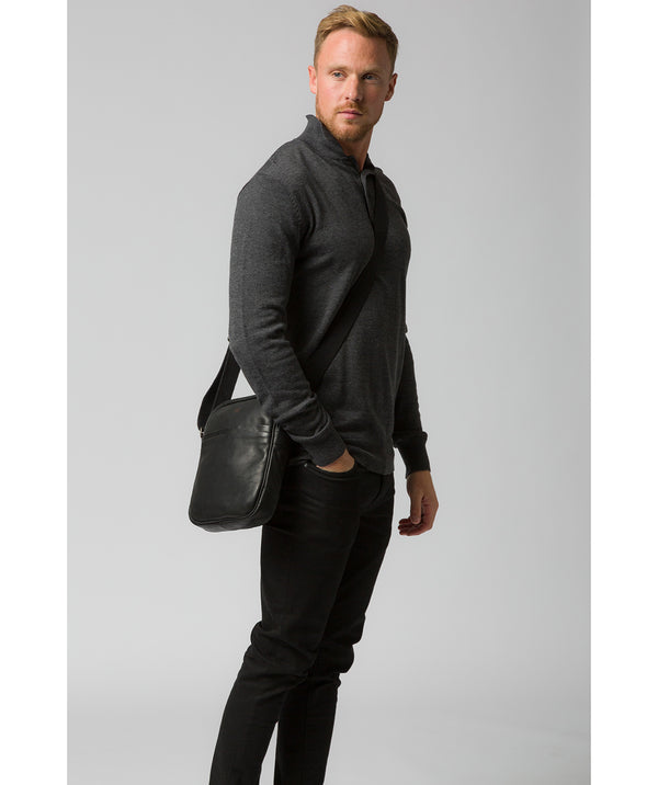'Cartmel' Black Leather Cross Body Bag image 2