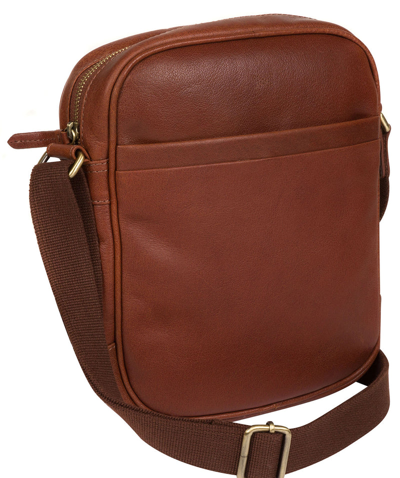 'Cartmel' Treacle Leather Cross Body Bag image 3