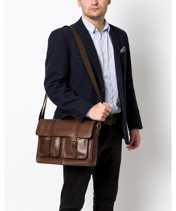'Garsdale' Malt Leather Briefcase image 2