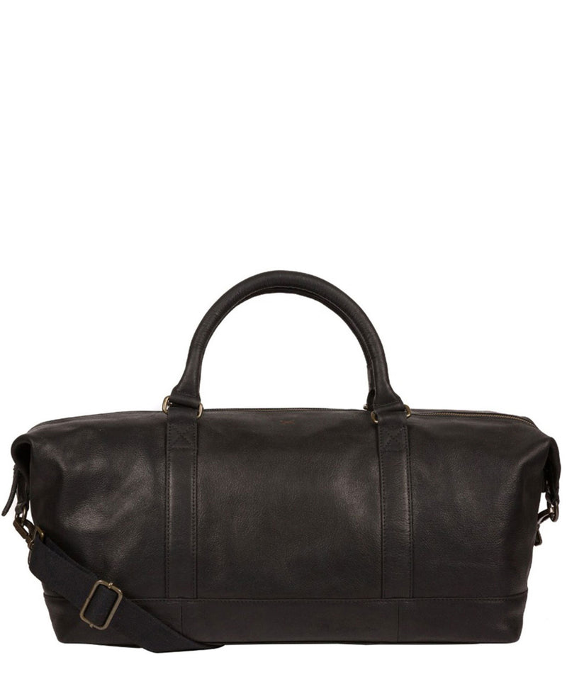 'Port' Black Leather Holdall