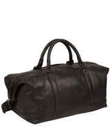 'Port' Black Leather Holdall image 3