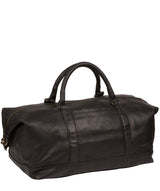 'Port' Black Leather Holdall image 4