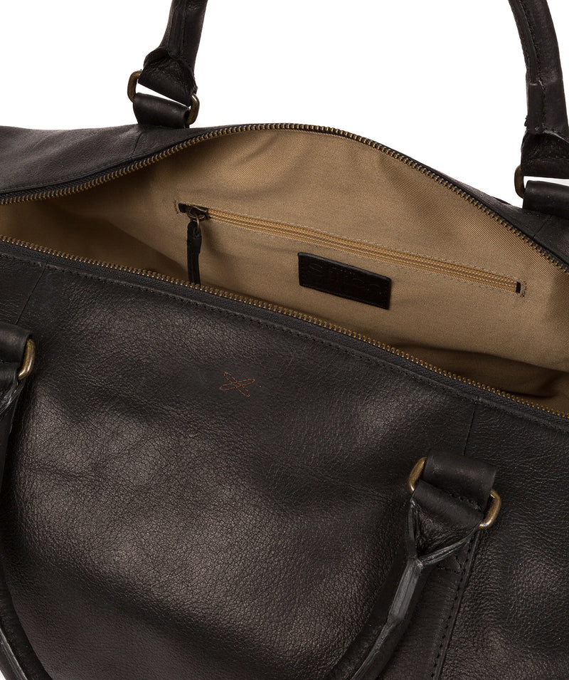 'Port' Black Leather Holdall image 5