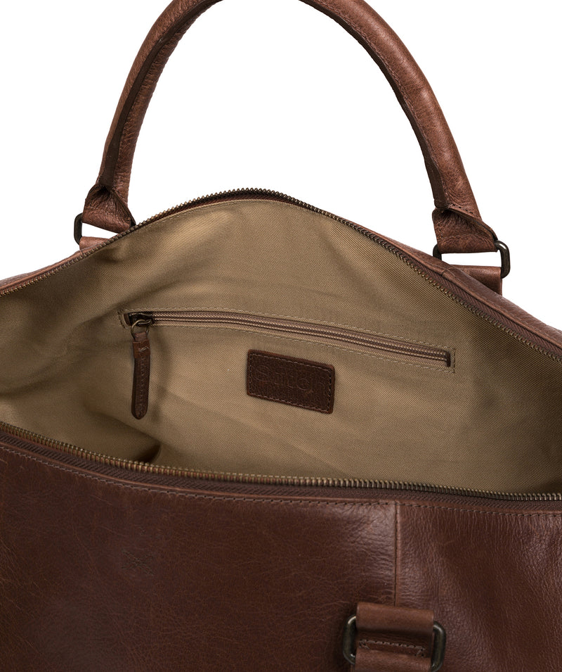 'Port' Malt Leather Holdall image 4