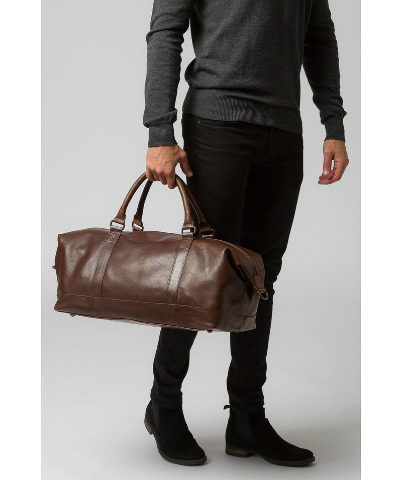 'Port' Malt Leather Holdall image 7