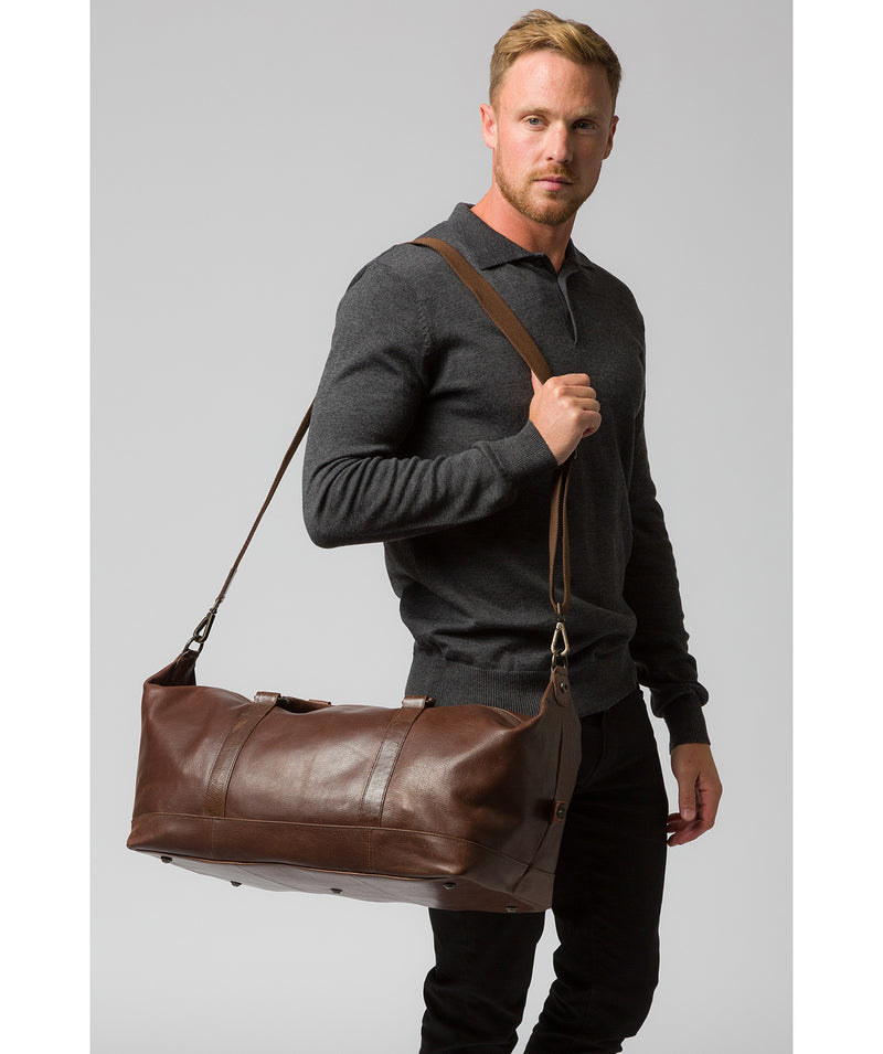 'Port' Malt Leather Holdall image 2