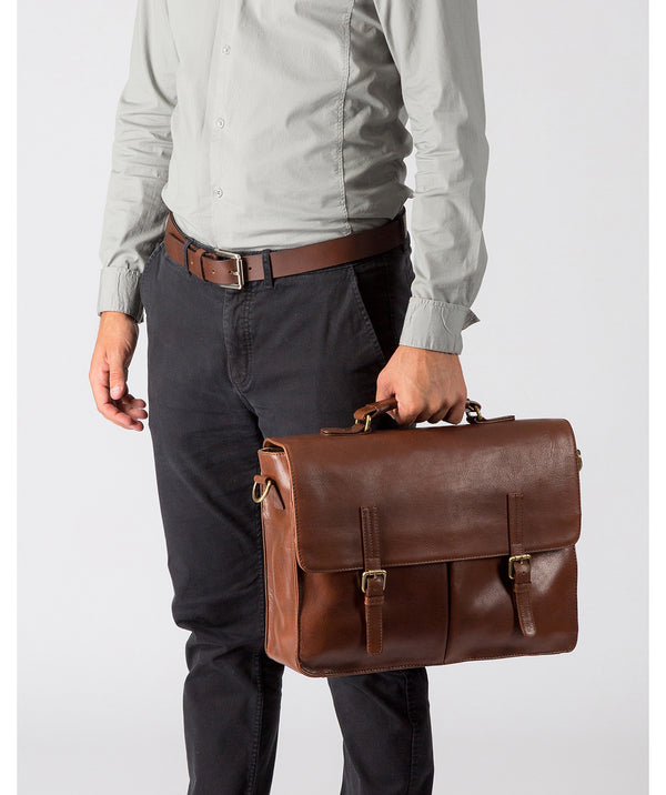'Lorton' Treacle Handmade Leather Briefcase image 2
