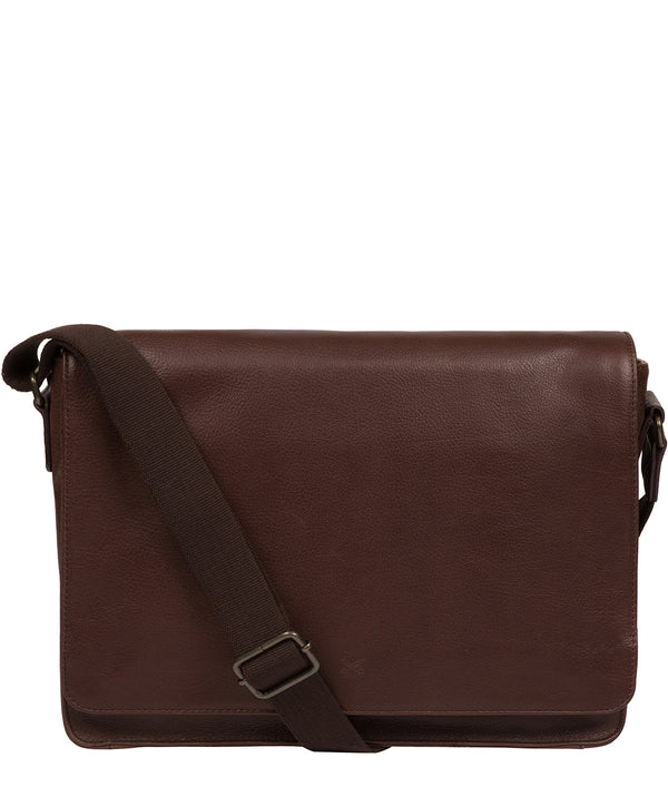 'Tom' Malt Leather Messenger Bag image 1