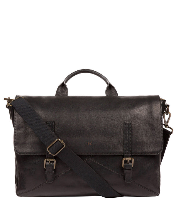 'Big Andrew' Black Leather Workbag image 1