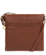 'Essie' Cognac Leather Cross Body Bag image 1