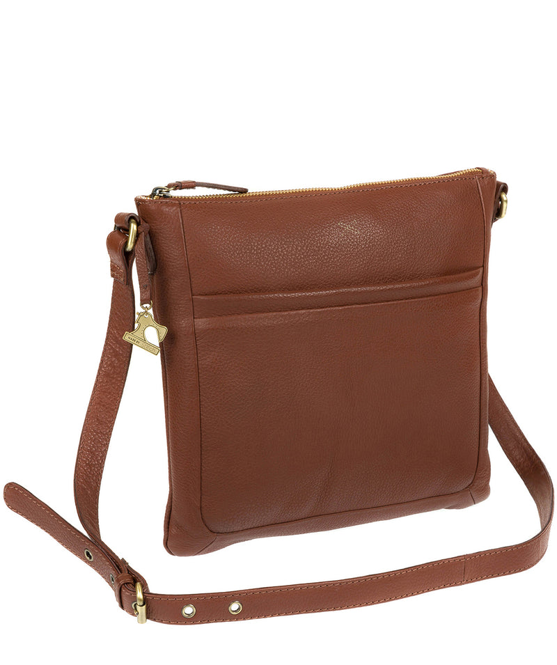 'Essie' Cognac Leather Cross Body Bag image 3