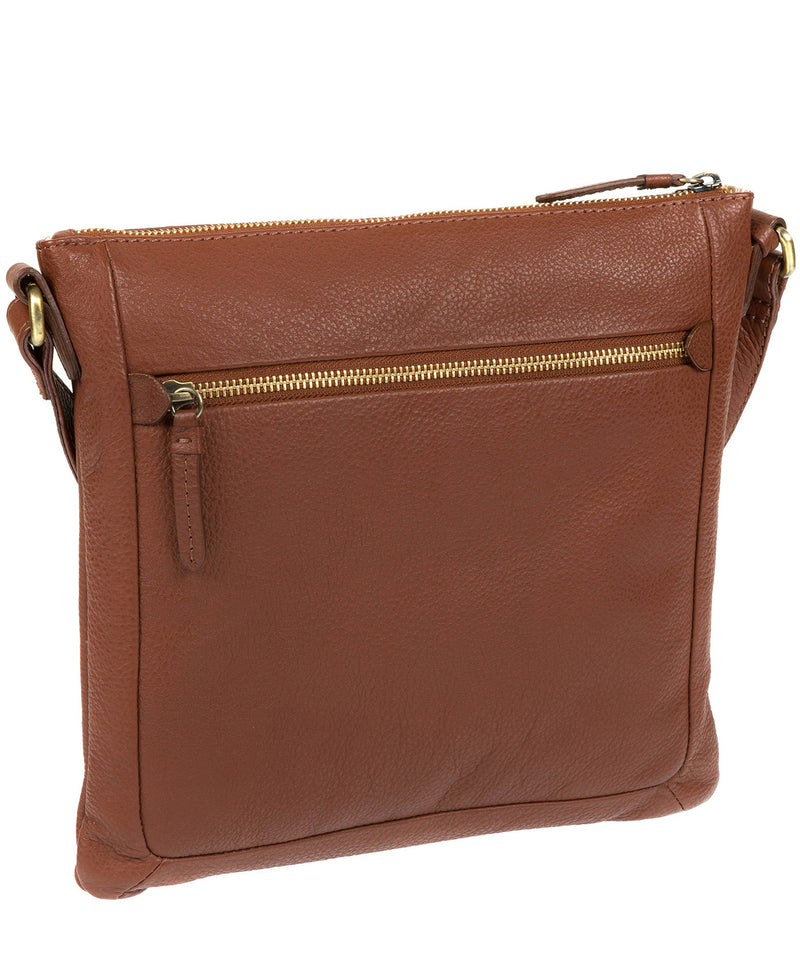 'Essie' Cognac Leather Cross Body Bag image 5