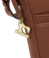 'Essie' Cognac Leather Cross Body Bag image 6