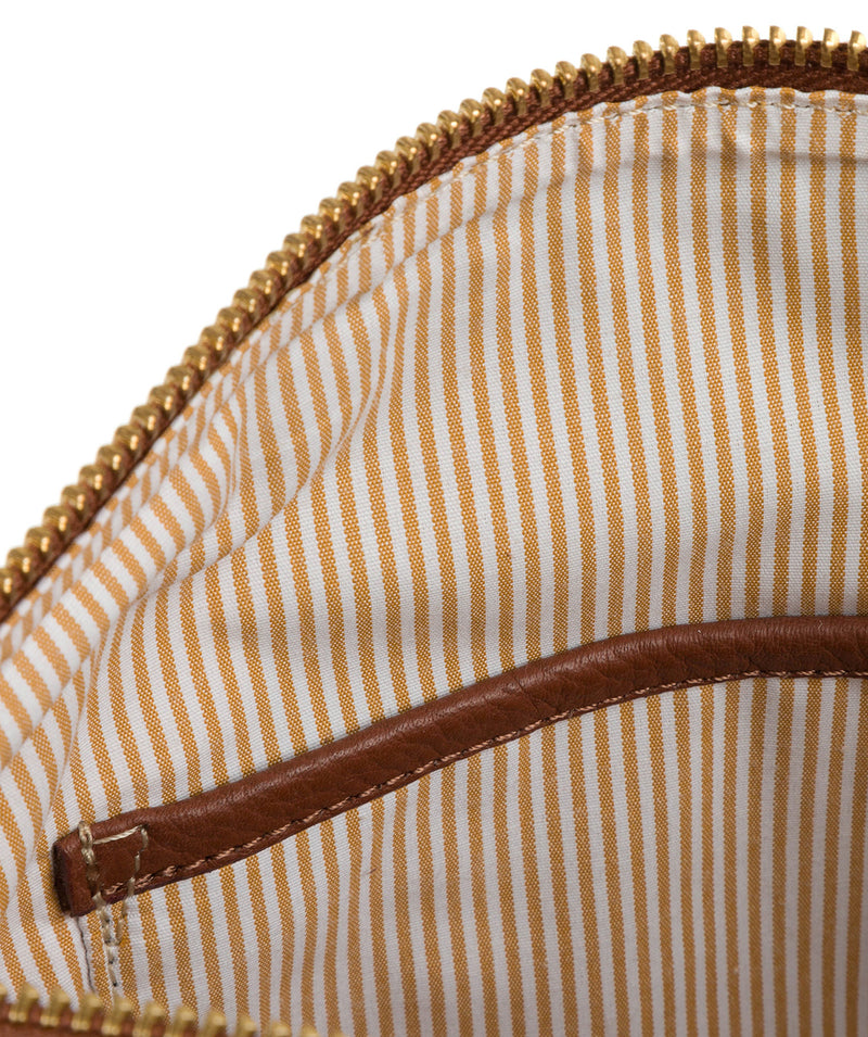 'Essie' Cognac Leather Cross Body Bag image 7