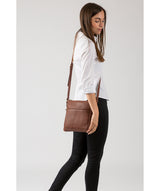 'Essie' Cognac Leather Cross Body Bag image 2