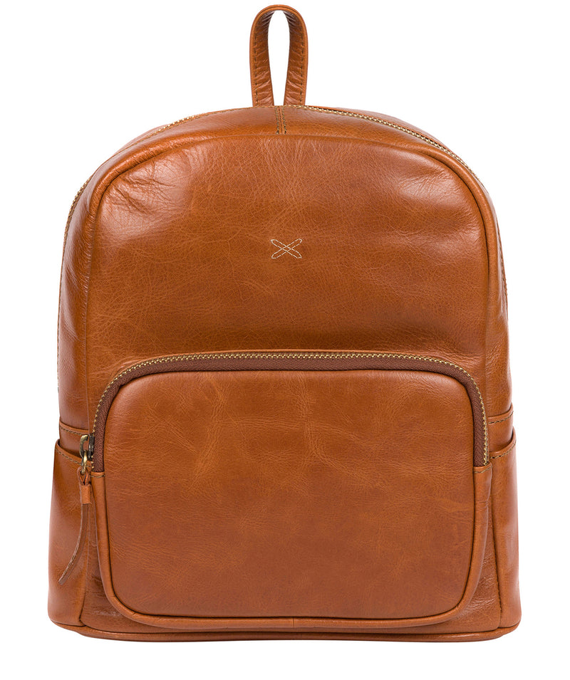 'Greer' Bourbon Leather Backpack image 1