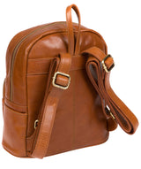 'Greer' Bourbon Leather Backpack image 3
