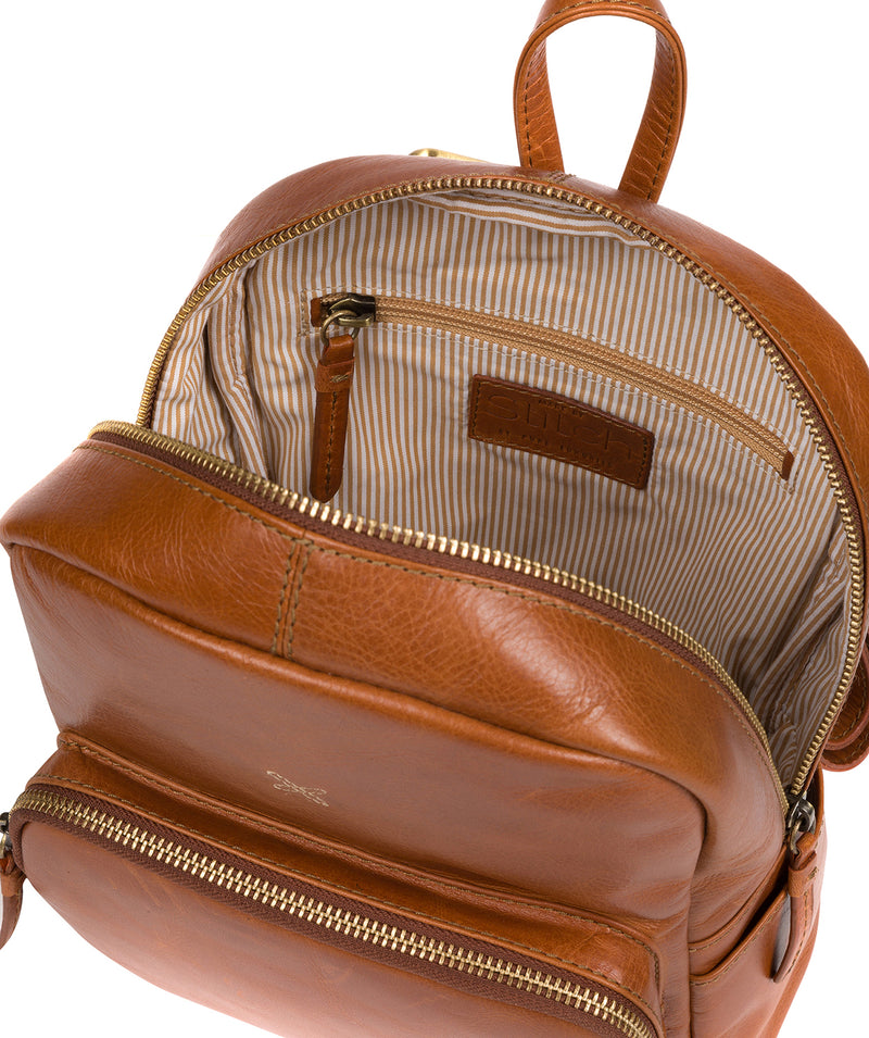 'Greer' Bourbon Leather Backpack image 4