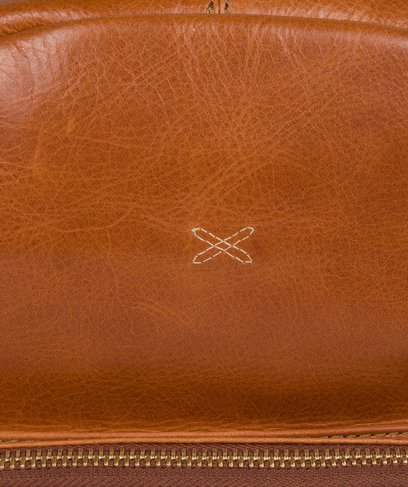 'Greer' Bourbon Leather Backpack image 5