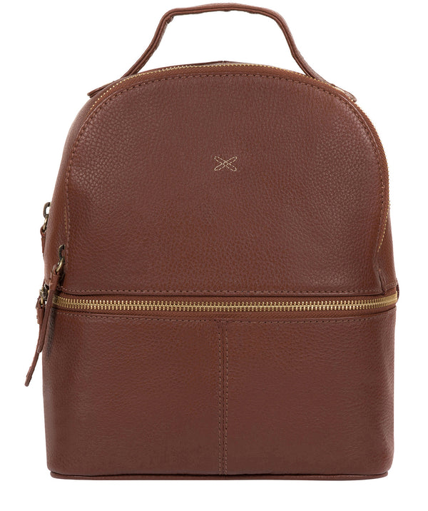 'Viva' Cognac Leather Backpack image 1