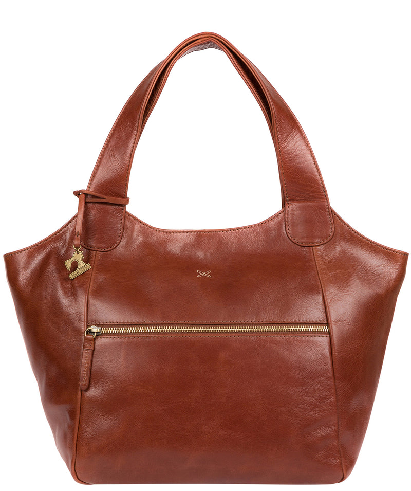 'Imani' Whiskey Leather Tote Bag image 1